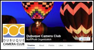Public page of the Dubuque Camera Club on Facebook