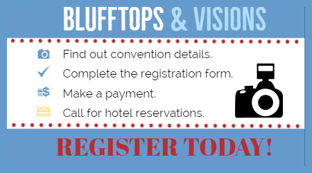 Register now for Blufftops and Visions!