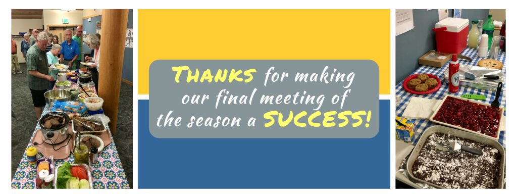 Thanks for making our final meeting of the season a success!